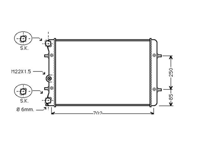 RADIATOR 1.6/1.8 PETROL 1.9TDI for AUDI A3