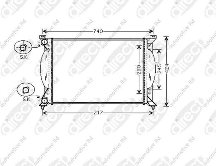 Radiator 1.9 TDI Manual A/C +