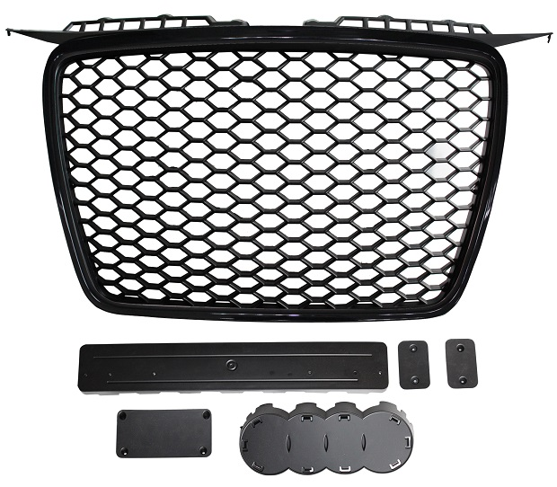 Front Grille RS Style Black With Black Surround 05> Only for AUDI A3