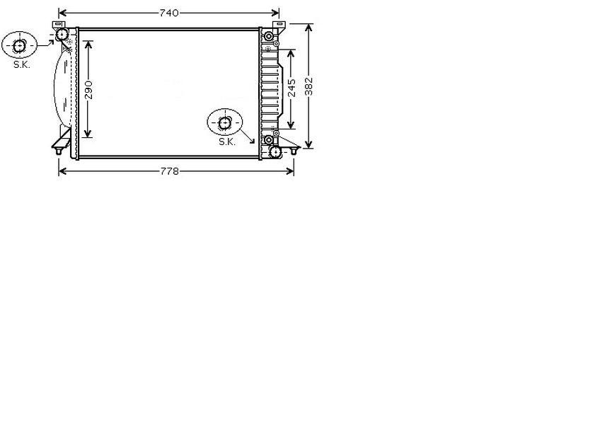 Radiator 2.5 TDI + Quattro for AUDI A4