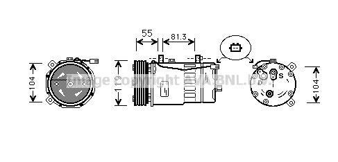 Replacement Car Parts for Audi A3 Compressor 1.6