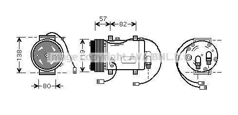 Replacement Car Parts for Audi 100 Compressor 2.0 e