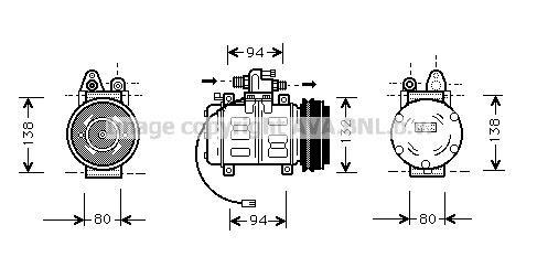 Replacement Car Parts for Audi 100 Compressor 2.0