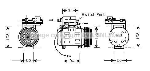 Replacement Car Parts for Audi 100 Compressor 2.3 e
