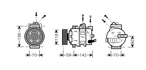 Replacement Car Parts for Volkswagen Eos Compressor 1.4 tsi
