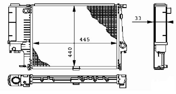 Radiator 1.6/1.8/2.0/2.5 Petrol Manual 1991>1998 for BMW 3 SERIES