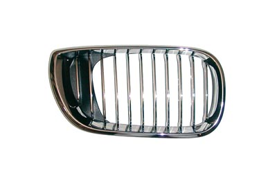 Grille Chrome Frame + Chrome Slats Right Hand 4 Door for BMW 3 SERIES