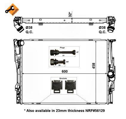 Radiator 2.0 16V and 3.0 24V Petrol Manual for BMW 1 SERIES