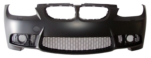 Front Bumper M3 Style W/Headlight Wash W/Grilles/Spotlight Holes for BMW 3 SERIES