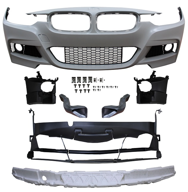 Replacement Car Parts for Bmw 3 series Front bumper m sport style with grille and brake ducts