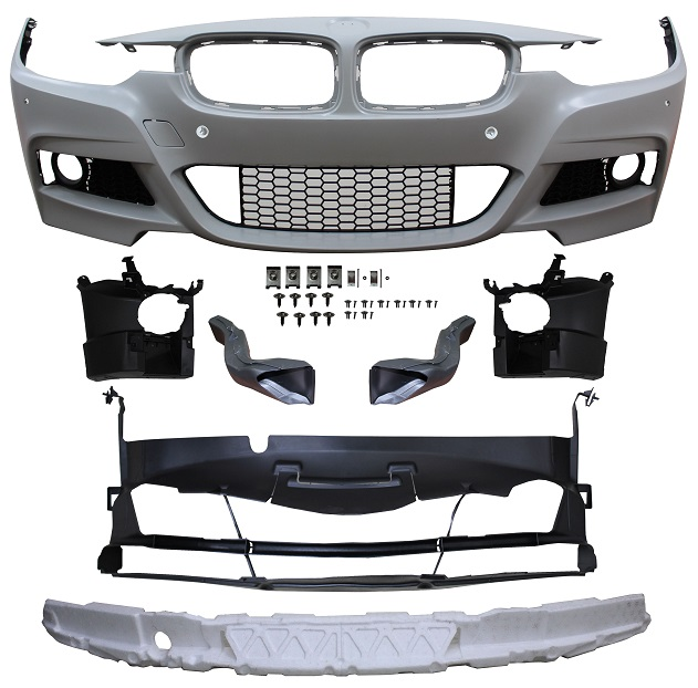 Replacement Car Parts for Bmw 3 series Front bumper m sport style with pdc with grille and brake ducts