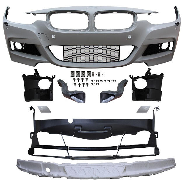 Replacement Car Parts for Bmw 3 series Front bumper m sport style with pdc/wash with grille/brake ducts