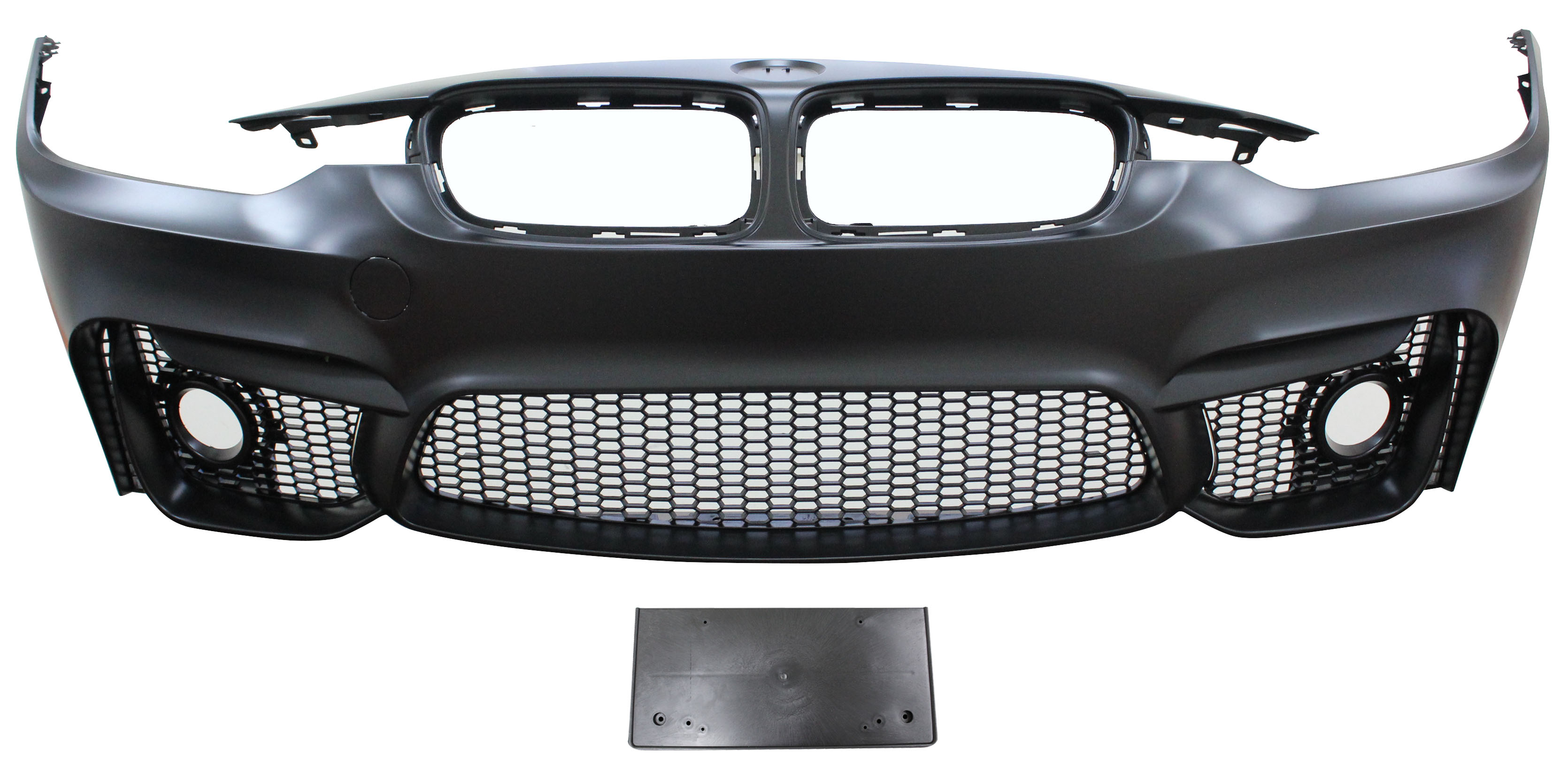 Replacement Car Parts for Bmw 3 series Front bumper m3 style with grilles with spotlight holes