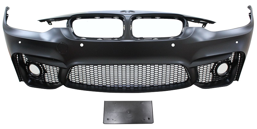 Replacement Car Parts for Bmw 3 series Front bumper m3 style with pdc with grilles and spotlight holes