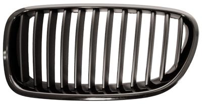 Grille Chrome Frame + Black Slats Left Hand Independently Certified for BMW 5 SERIES