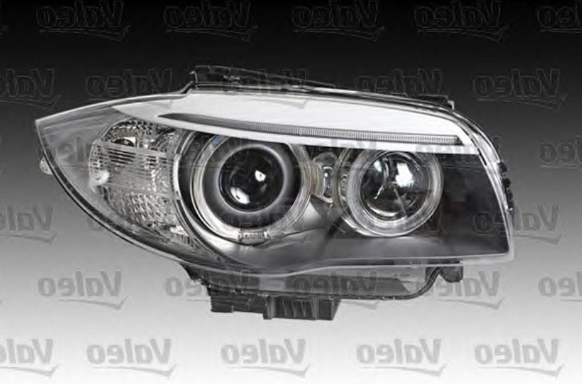 Headlight Xenon Grey Right Hand OEM/OES Coupe/Cabrio for BMW 1 SERIES