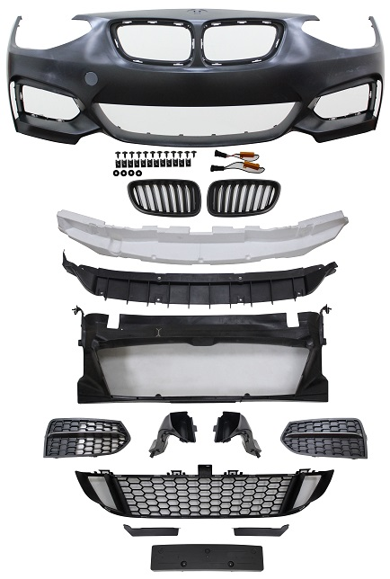 Replacement Car Parts for Bmw 1 series Front bumper m235 style with grilles & brake ducts