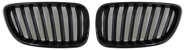 Replacement Car Parts for Bmw 2 series Front grille set m performance style gloss black surround black slats