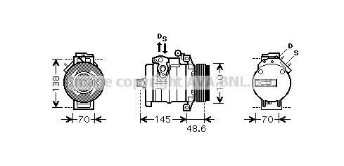 Replacement Car Parts for Bmw X5 Compressor 3.0 d