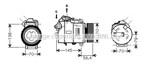 Replacement Car Parts for Bmw 1 series Compressor 135 i