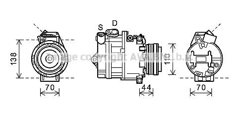 Replacement Car Parts for Bmw X5 Compressor 4.4 i automatic