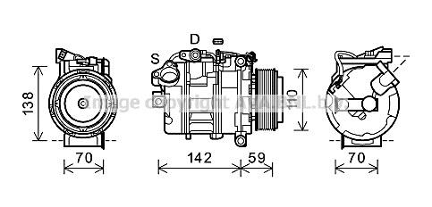 Replacement Car Parts for Bmw 5 series Compressor 523 i