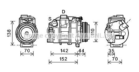 Replacement Car Parts for Bmw 5 series Compressor 550 i