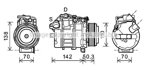 Replacement Car Parts for Bmw X5 Compressor xdrive 30 d