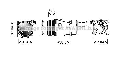 Replacement Car Parts for Citroen Berlingo Compressor 1.6 hdi 110
