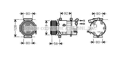 Replacement Car Parts for Citroen Berlingo Compressor 1.6 hdi 90
