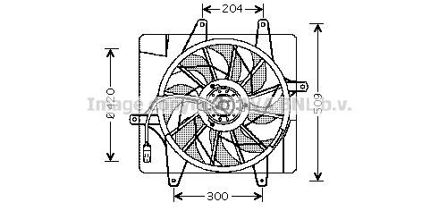 Replacement Car Parts for Chrysler Pt Radiator fan 2.0