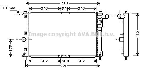 Replacement Car Parts for Chevrolet Nubira Radiator 1.6 / 2.0 petrol manual