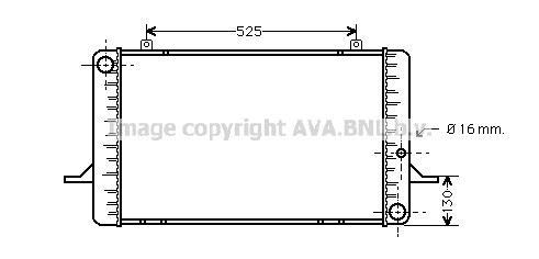 Radiator 1.3 Manual A/C + for FORD SIERRA