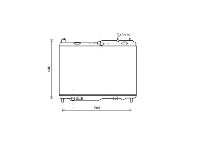 Radiator 1.6 TDCi Manual A/C +