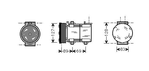 Replacement Car Parts for Ford Transit Compressor 2.0 di (fae_, faf_, fag_) manual