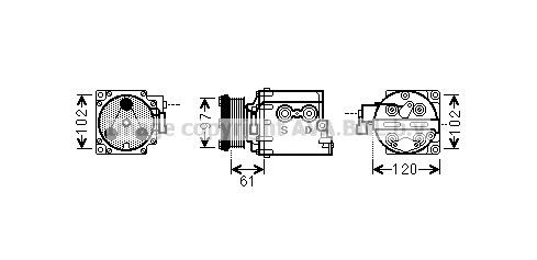 Replacement Car Parts for Ford Transit Compressor 1.8 di