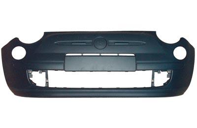 Front Bumper Primed Black Without Moulding Hole for FIAT 500