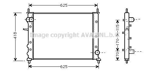 Radiator 1.9 JTD 105 Manual A/C + for FIAT MAREA