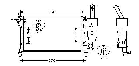 Radiator 1.1 A/C + for FIAT PANDA