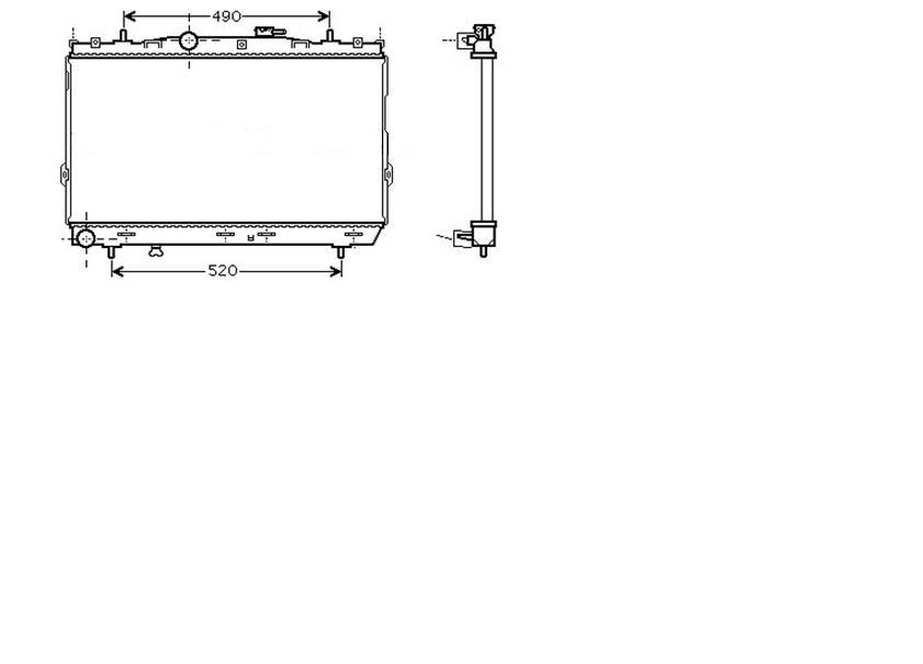 Radiator 1.8 Manual A/C +