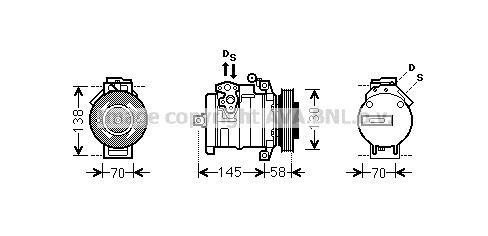Replacement Car Parts for Mercedes Sprinter Compressor 524 (906.653, 906.655, 906.657)