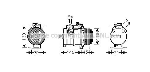Compressor 516 CDI 4x4 (906.153, 906.155, 906.255) for MERCEDES SPRINTER