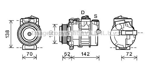 Replacement Car Parts for Mercedes Sprinter Compressor 213 cdi (906.111, 906.113, 906.211, 906.213)