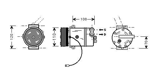 Replacement Car Parts for Vauxhall Corsa Compressor 1.0 i 12v