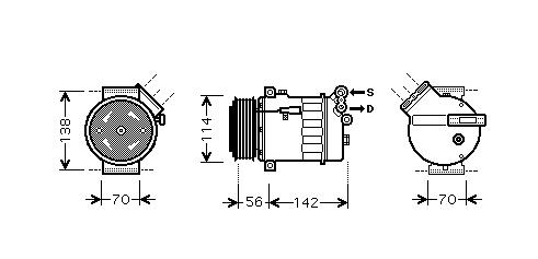 Replacement Car Parts for Vauxhall Astra Compressor 1.6 manual