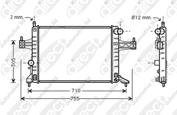 Radiator 1.6 CNG 16V A/C +