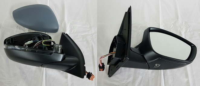 Replacement Car Parts for Peugeot 308 Door mirror electric heated primed power fold with lamp right hand