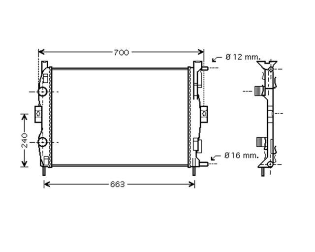 Radiator 1.6 16V (BM0C, CM0C) Manual A/C +
