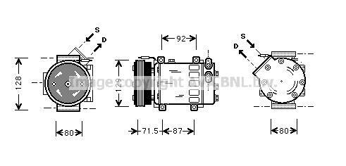 Replacement Car Parts for Renault Clio Compressor 1.2 16v