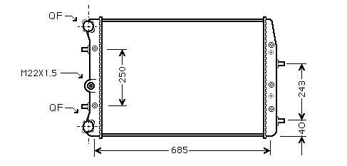 Radiator 1.4 16V Automatic A/C +